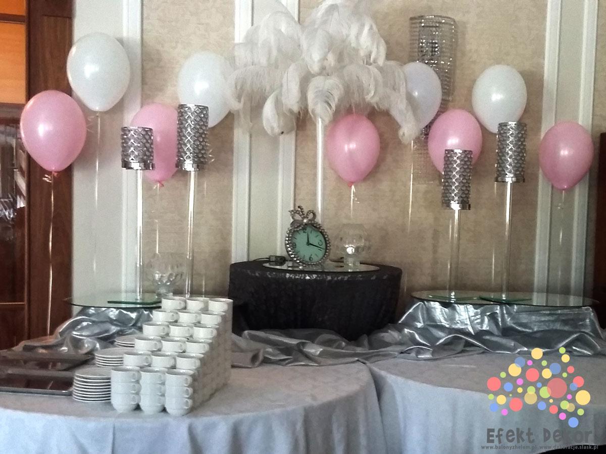 Piękne i kolorowe balony z helem na wesele